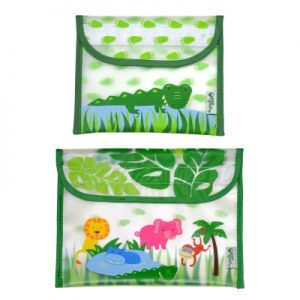 Kit Porta Lanches Safari / Jacaré - Green Sprouts